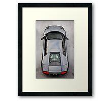 Lamborghini Murcielago LP640 From Above!  Framed Print