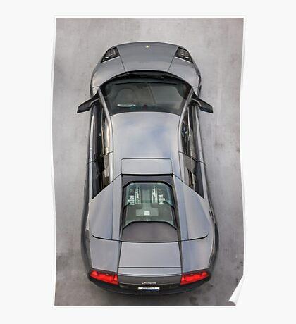 Lamborghini Murcielago LP640 From Above!  Poster