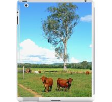 Two Alert Brown Cows iPad Case/Skin