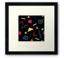 Early 90's Confetti Toss Framed Print