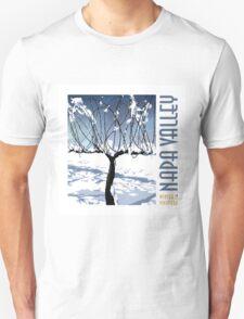 Winter in the Vineyard - White Unisex T-Shirt