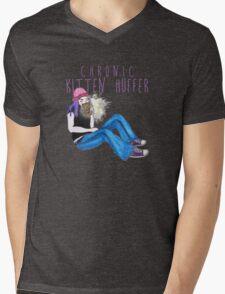 Kitten Huffer Mens V-Neck T-Shirt