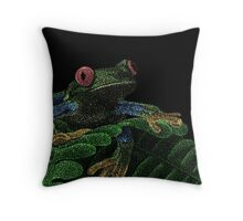 Tree Frog (Colorized) Throw Pillow