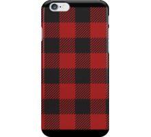 90's Black and Red Buffalo Check Plaid - Small Scale iPhone Case/Skin