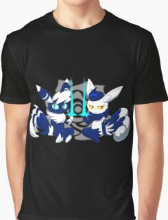 Meowstic Couple Graphic T-Shirt
