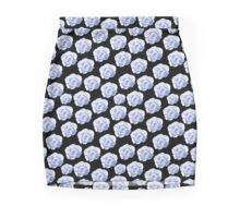 Blue roses on a black background Mini Skirt