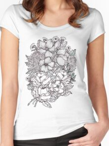 winter blooms for tee and other lovely things Women's Fitted Scoop T-Shirt