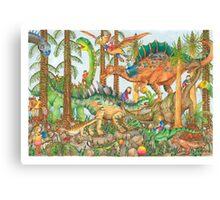 Prehistoric Playground Canvas Print