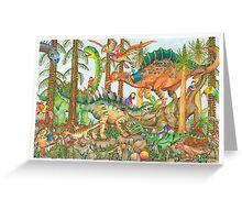 Prehistoric Playground Greeting Card