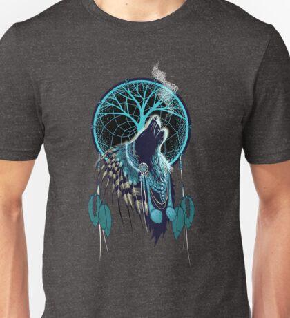 Wolf Indian Shaman Unisex T-Shirt
