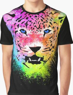 Tiger - Colorful Paint Splatters Dubs - T-Shirt Stickers Art Prints Graphic T-Shirt
