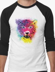 Tiger - Colorful Paint Splatters Dubs - T-Shirt Stickers Art Prints Men's Baseball ¾ T-Shirt