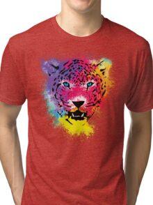 Tiger - Colorful Paint Splatters Dubs - T-Shirt Stickers Art Prints Tri-blend T-Shirt