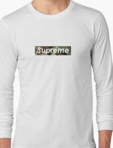 SUPREME BOX LOGO CAMO Long Sleeve T-Shirt