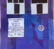 TARDIS collage Sticker