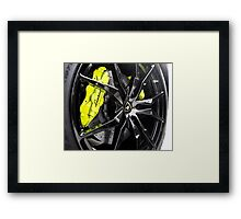 Acid Green Calipers with Gloss Black Wheels? Uhm, Yes! Framed Print