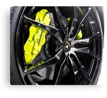 Acid Green Calipers with Gloss Black Wheels? Uhm, Yes! Canvas Print