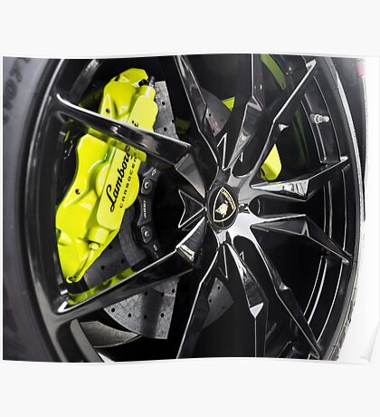 Acid Green Calipers with Gloss Black Wheels? Uhm, Yes! Poster