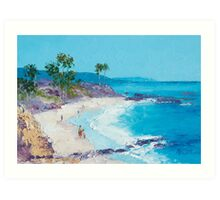 Laguna Beach oil painting Art Print