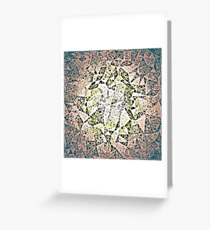 Diatomaceous Quilt Greeting Card