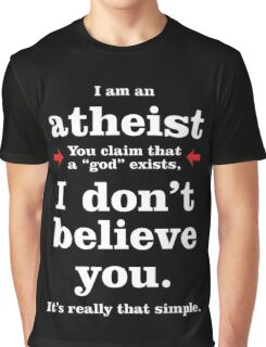 Simply Atheist Graphic T-Shirt