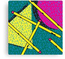 Pattern 1990s Cylinder Canvas Print