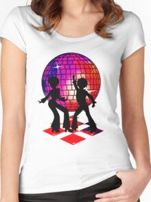 Retro Music DJ! Feel The Oldies! DANCE! Women's Fitted Scoop T-Shirt