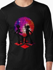 Retro Music DJ! Feel The Oldies! DANCE! Long Sleeve T-Shirt