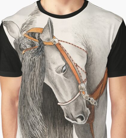 Andalusian Horse Painting by Anthea M Graphic T-Shirt