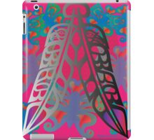 Heiltsuk Eagle & Raven Feathers Surrounded by Butterflies iPad Case/Skin