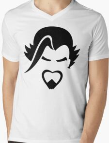 Hanzo Black Mens V-Neck T-Shirt