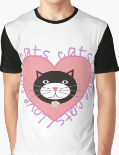 I Love Cats Graphic T-Shirt