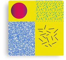 Pattern 90s design Circle Canvas Print