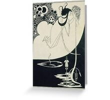 Vintage famous art - Aubrey Vincent Beardsley  - The Climax Illustration From  Salome  By Oscar Wilde Greeting Card