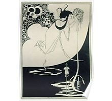 Vintage famous art - Aubrey Vincent Beardsley  - The Climax Illustration From  Salome  By Oscar Wilde Poster