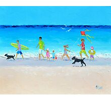 Beach painting - Summer Vacation Time Photographic Print
