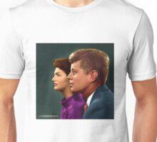 Colorized Jackie & JFK in Tandem Profile circa 1960 Unisex T-Shirt