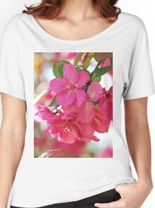 A branch of Crabapple flowers Women's Relaxed Fit T-Shirt