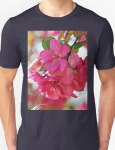 A branch of Crabapple flowers Unisex T-Shirt