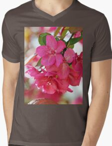 A branch of Crabapple flowers Mens V-Neck T-Shirt