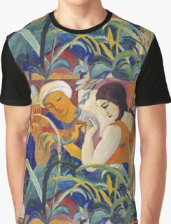 Vintage famous art - August Macke - Eastern Women Graphic T-Shirt