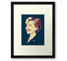 Hillary without Text (Shepard Fairey Style) Framed Print