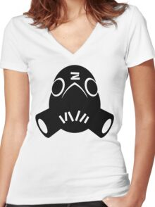 Roadhog Black Women's Fitted V-Neck T-Shirt
