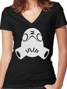 Roadhog White Women's Fitted V-Neck T-Shirt