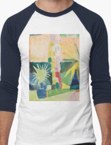 Vintage famous art - August Macke - Garden On Lake Thun (Pomegranate Tree And Palm In The Garden) Men's Baseball ¾ T-Shirt