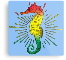 Seahorse with Reggae Music Flag Colors! Metal Print