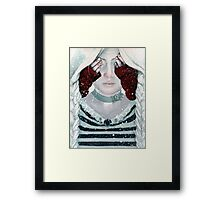 Little Red Riding Hood steampunk Illustration Framed Print
