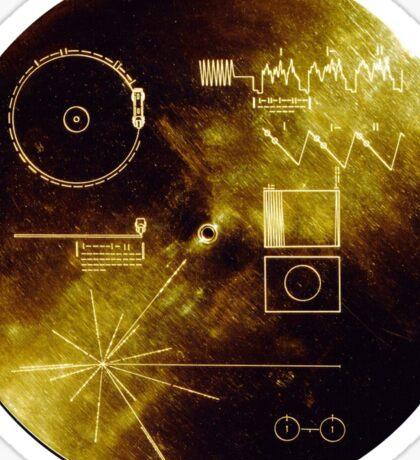 Voyager Golden Record Sticker