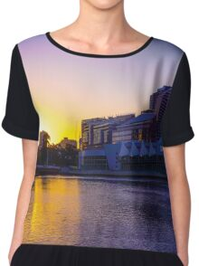 Backlit Along the Yarra - Melbourne, Victoria Chiffon Top