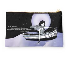 1920s Gatsby Flapper Girl Sea Boat Quote Studio Pouch